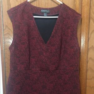 Plus Size Rose Print Bodycon Dress